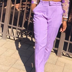 Pants - lilac trousers